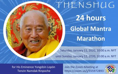 Participate in Global Mantra Marathon January 11 and 12 for H.E. Yongdzin Rinpoche