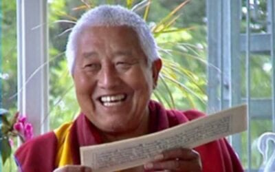 Wednesday, June 30, 2021, 11:45 a.m. New York time: Long Life Prayers for Yongdzin Rinpoche